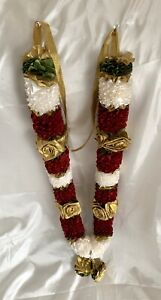 asian Artificial Flowers wedding garlands Maroon,Ivory Gold Indian Bollywood