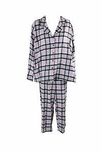 72dbcd7703d0 Alfani Printed Flannel Pajama Set Pink Plaid XX-Large 706256479521 ...