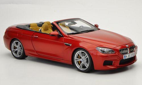 Voiture Modèle; 2012 BMW M6 Cabriolet (F12) atteint. Orange Foncé 1 18 Scale 80432253655