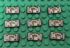 Red and Silver NEW Lego 1 Black 1x2 printed tile Avionics SW Copper
