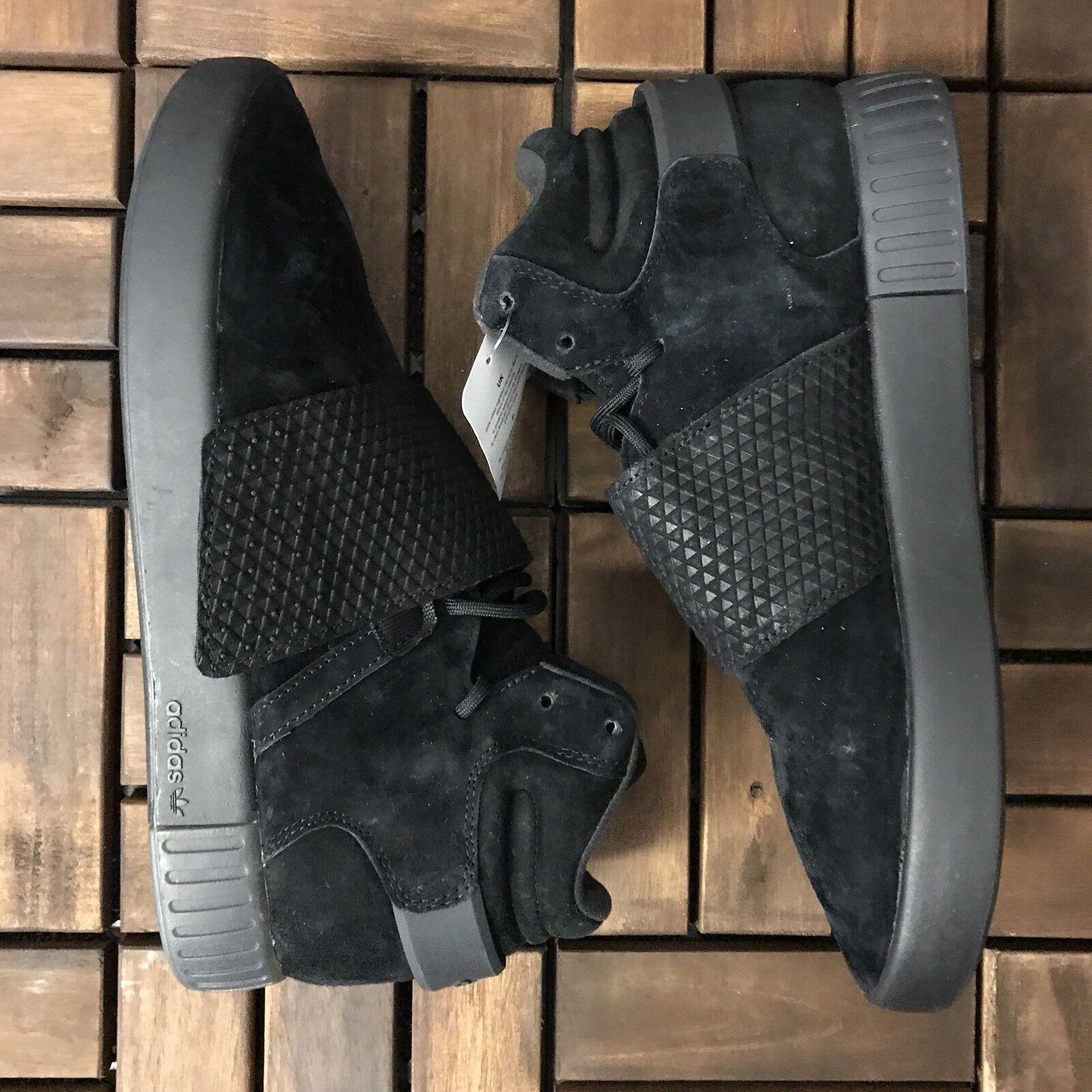 New Adidas Originals Invader Tubular Triple Black BB1169 Sz  11.5