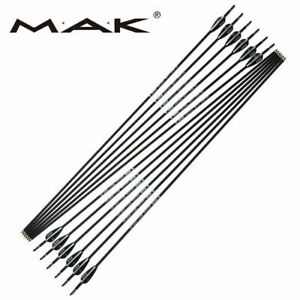 12pcs-6MM-Black-Carbon-Arrow-Spine1000-For-Outdoor-Shooting-Practice-Training