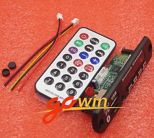 Wireless-Bluetooth-12V-MP3-WMA-Decoder-Board-Audio-Module-USB-TF-Radio-For-Car