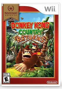 NEW-Donkey-Kong-Country-Returns-Nintendo-Wii-2010-Selects-Cover