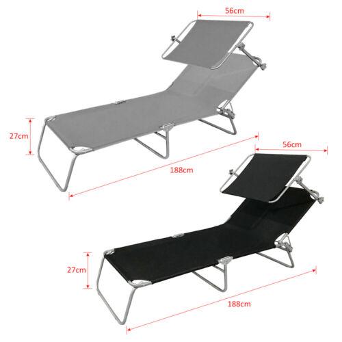 Dach DE Klappbar Sonnenliege Sonnenschutz Liegestuhl Gartenliege Strandliege