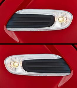2x-BMW-Mini-F56-F55-F57-Claro-Indicador-Repetidor-huida-Recorte-Lateral-Blanco-Cooper