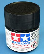 Tamiya GLOSS SEMI GLOSS BLACK  Acrylic Hobby Model Paint Acrylic X18  23ml 81018