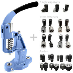 Starter-set-14-tools-dies-and-hand-press-for-eyelets-rivets-press-fasteners-S017