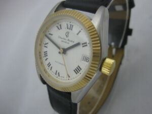 NOS-NEW-VINTAGE-SWISS-MADE-AUTOMATIC-DATE-CHARLES-ANDRE-MEN-039-S-ANALOG-WATCH-1960-039