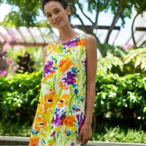 Jams-World-Jackie-Dress-Flower-Dream-Hawaiian-Sundress-X-Large-USA-Made