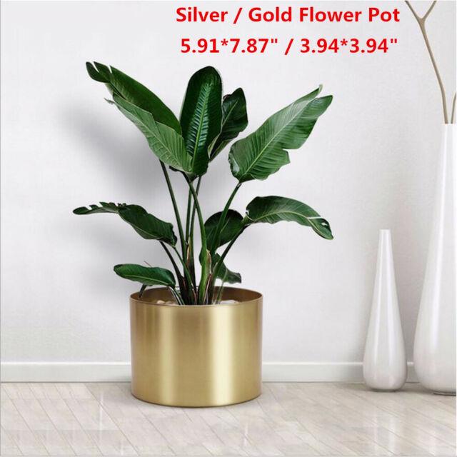 Metal Flower Pot Planter Succulent Plant Garden Pots Container Indoor  Outdoor