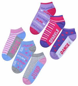 Girls-Socks-3-Pairs-Kids-New-Sport-Dance-Sparkle-Socks-UK-Size-6-8-5-9-12-12-3-5