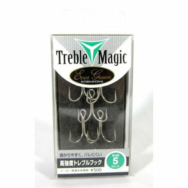Treble Hooks Treble Magic Size 2-3183 Evergreen