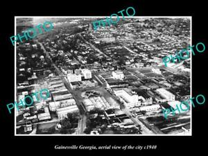 OLD-LARGE-HISTORIC-PHOTO-OF-GAINESVILLE-GEORGIA-AERIAL-VIEW-OF-THE-TOWN-c1940