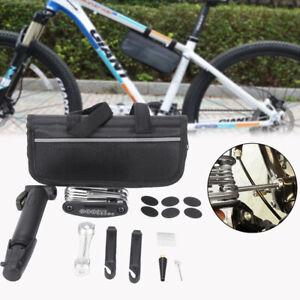 Bicicletta-Pneumatico-Tubo-Kit-Riparazione-Foratura-Toppe-Attrezzo-Pompa