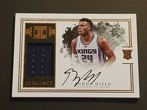 Buddy-Hield-2016-IMPECCABLE-ELEGANCE-RC-Auto-99-TRUE-RPA-Patch-Rookie-Autograph