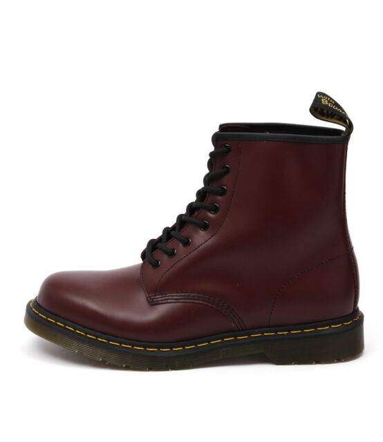 New Dr Marten 1460 8 Eye Boot Men's Cherry Mens Shoes Casual Boots Ankle