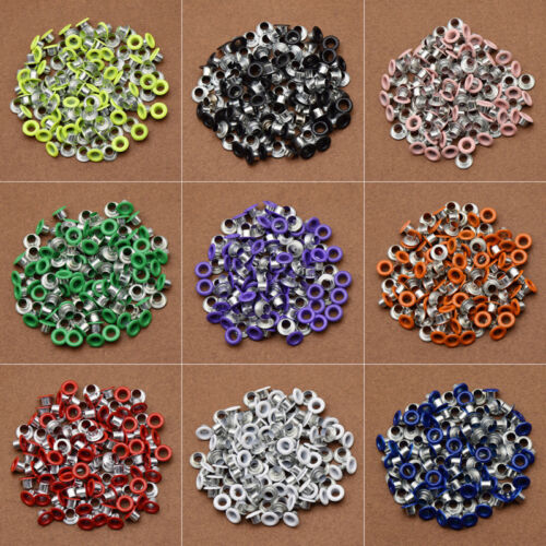 100 Pcs DIY Leathercraft Metal Eyelets Garment Scrapbook Decoration Accessories