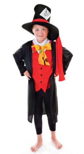 Verrückter Hutmacher Märchenkostüm für Kinder NEU Jungen Karneval Fasching Ver