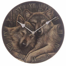 Lisa Parker Loyal Companion Wolves Wolf Picture Clock Loyal Companions
