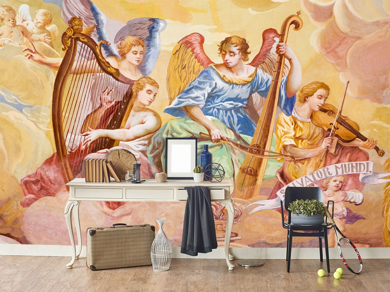 3D Musical Instrument Angel 3 Wallpaper Mural Wall Print Decal Indoor Murals AU