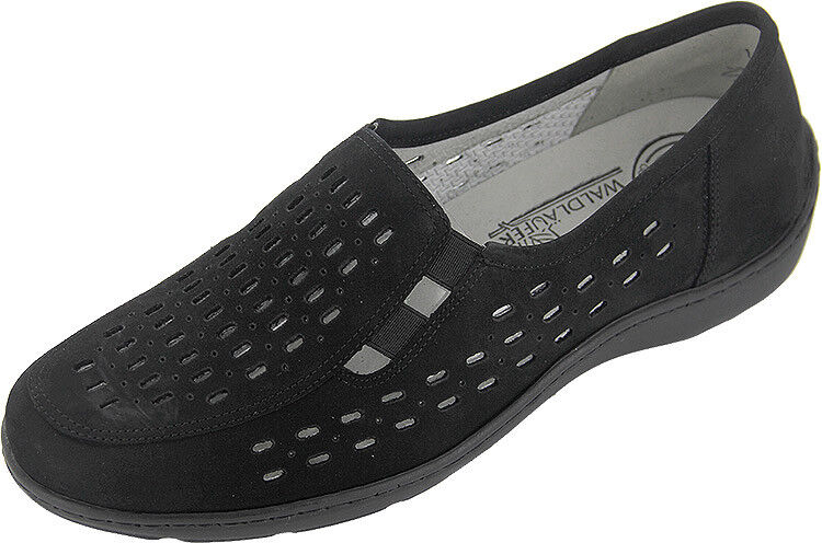 WALDLAUFER WOMEN'S JANNA, WALKING COMFORT SLIP-ON, PERFORATED SHOE