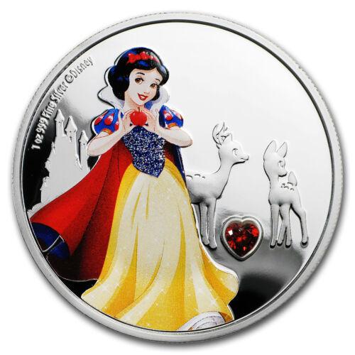 2019 Niue 1 oz Silver $2 Disney Princess Snow White w//Gemstone SKU#178532