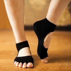 2stk-Halb-Toe-Ohnezehen-Knoechel-Grip-Tanz-Ubung-Yoga-Pilates-Socke-Anti-Rutsch