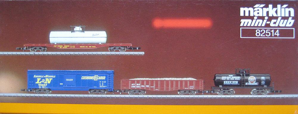 Z miniclub 82514; US-carri merci-Set, mattoncini in scatola originale/f358