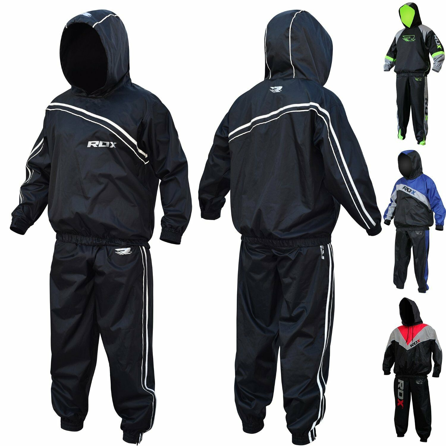 RDX Heavy Duty Sauna Sweat Suit Gym Fitness Exercise Weight Loss Boxing MMA C