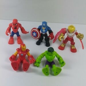 lot-of-5pcs-Playskool-Heroes-Marvel-Super-Hero-Adventures-2-5-034-Figure-Boy-Toys