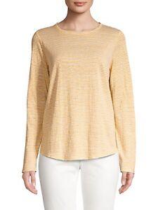 Eileen Fisher Organic Linen Knit Top White XS NWT $188