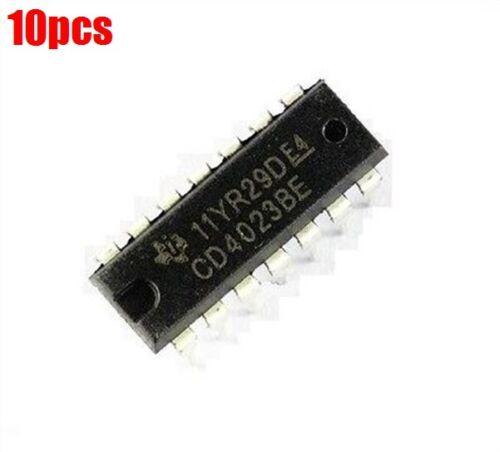 10Pcs CD4023BE CD4023 Ti DIP-14 DIP14 Cmos Nand Gate 14Pin Dip US Stock m