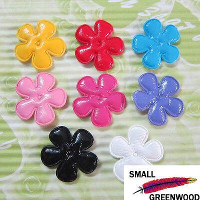 "(U Pick) Wholesale 40-480 Pcs 1"" Padded Felt PVC Flower Appliques F3800"