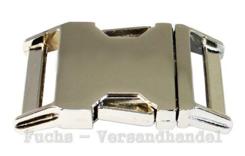 15;20;25 mm Steckschließe Alu Max Steckschnalle Schnalle Metall Steckverschluss