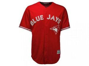 Toronto-Blue-Jays-Canada-Day-Cool-Base-Jersey-Majestic-MLB-Baseball-NEW-W-TAGS