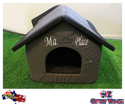 Soft Sided Dog House Dog Bed | Easy to reassemble Great for traveling-Brown