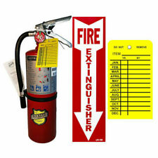 5 Lbbuckeye Abc Fire Extinguisher With Wall Bracket Sign And Inspection Tag
