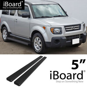 Lund 23661559 Black Steel 4 Oval Straight Nerf Bars for 2003-2011 Honda Element