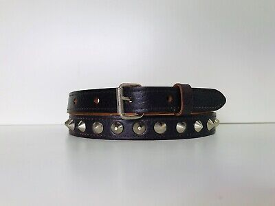 CB1 Genuine Leather 1 Row Conical Studded 20mmBelt 2 colours available S,M,L,XL