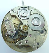 Agassiz Pocket Watch Movement - High - Grade Private Label - Parts / Repair!