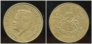 MONACO-10-francs-1979