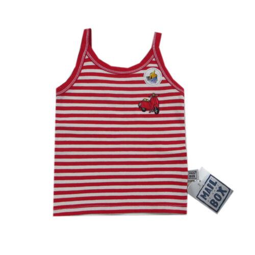 Mail Box by Kanz Shirt ohne Arm T-Shirt Top rot weiß Mädchen Gr.98 116 104