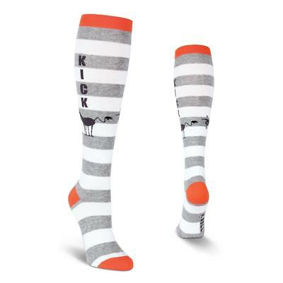 OSFM Bell Women/'s Funny Novelty Knee High Socks New Grey Hedgehog Friends K