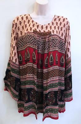 Boho Hippy Blouse Ethnic Indian Festival Retro Sleeve Shirt Bohemian Crochet