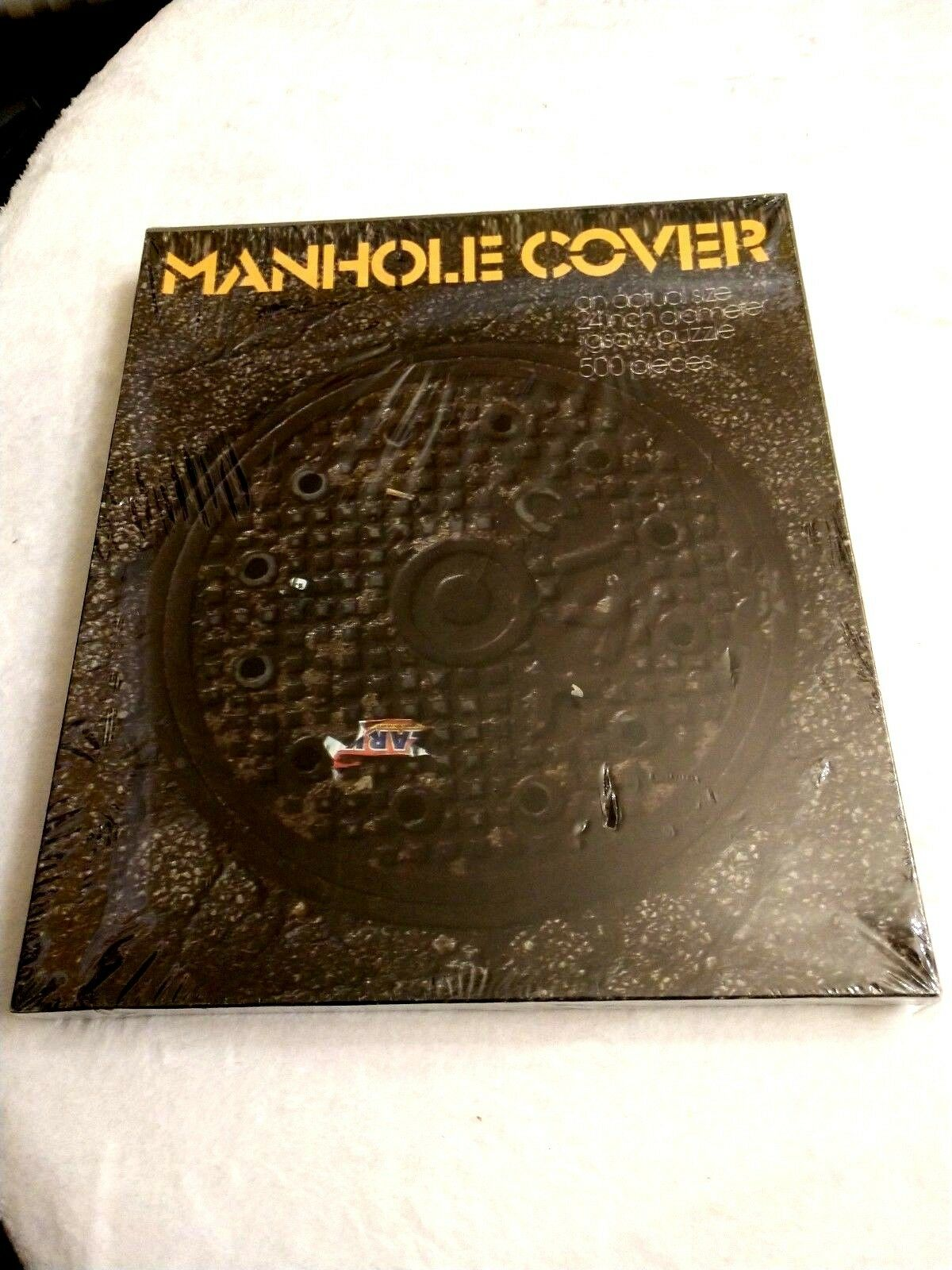 Vintage Jigsaw Puzzle - Manhole Cover with Clark Candy Wrapper 1972 - NEW