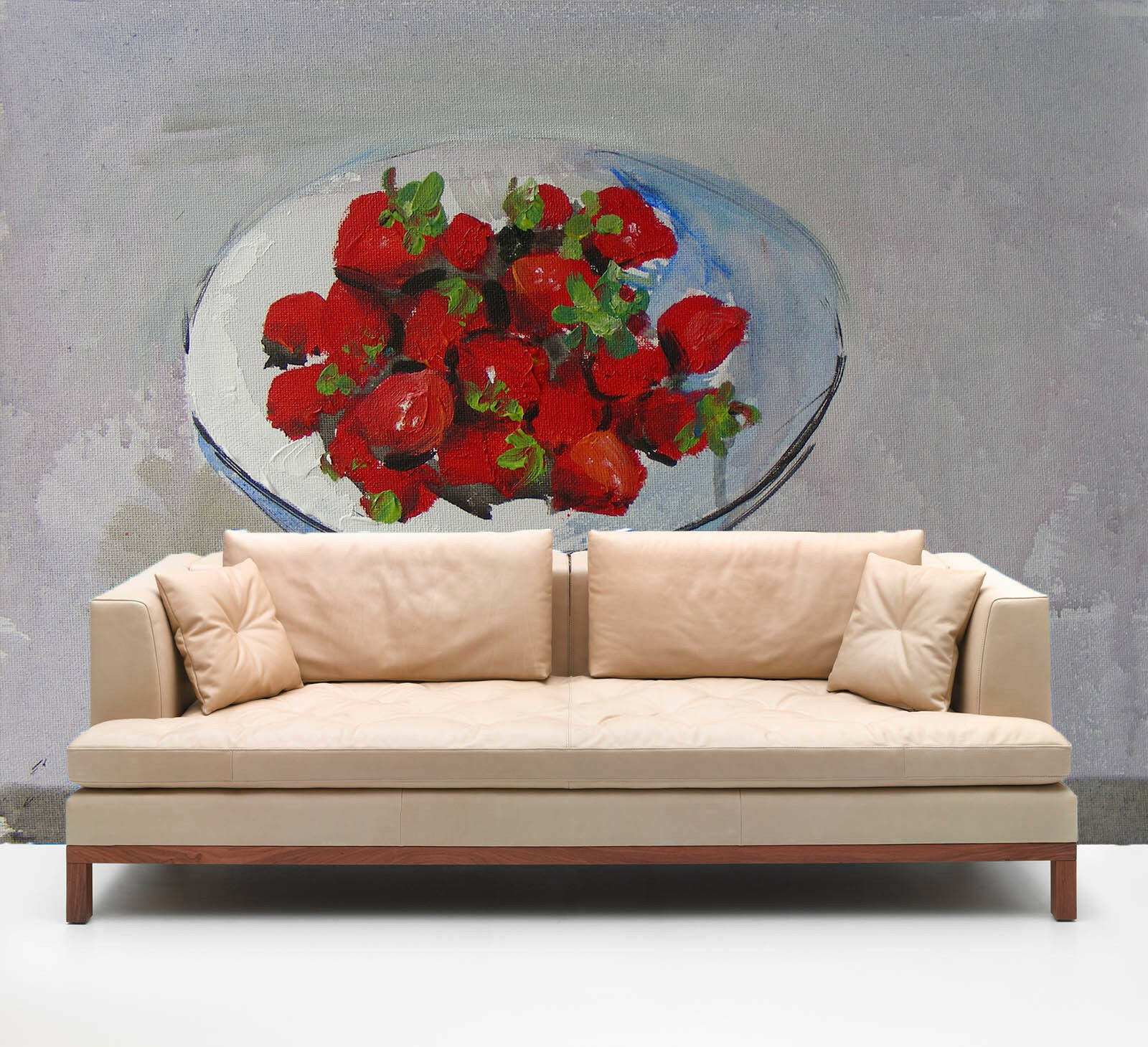 3D Painted Strawberries Paper Wall Print Wall Decal Wall Deco Indoor Murals
