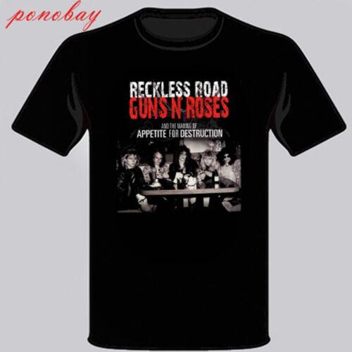 Guns N/' Roses *Reckless Road Rock Band Men/'s Black T-Shirt Size S M L XL 2XL 3XL