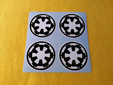 ALLOY WHEEL STICKERS DECAL 4 x 45mm Star Wars Empire centre cap badge wheel trim