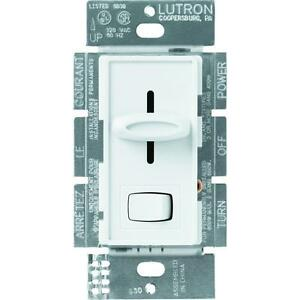 Lutron Light Ceiling Fan Dimmer 3 Speed Control Switch Wall Controller Slider